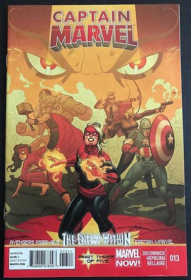 Captain Marvel (Marvel) #13 VF/NM [1st Mohawk]