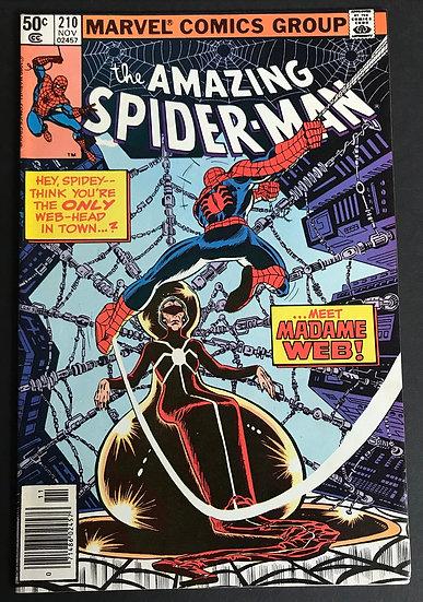Amazing Spider-Man (Marvel) #210 VF [1st Appearance Madame Web.]