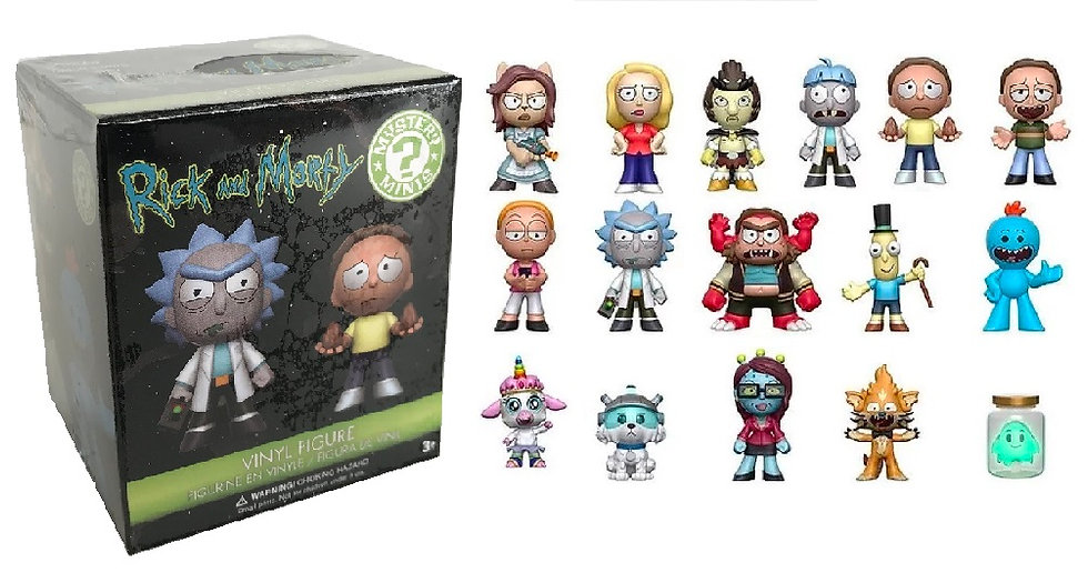 Pint Size Rick And Morty Mystery Blind Box Mini Figures By Funko