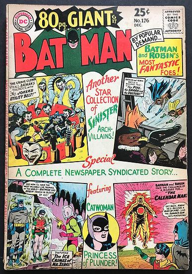 Batman (DC) #176 VG+ [Joker Dri Freeze Catwoman Cover]