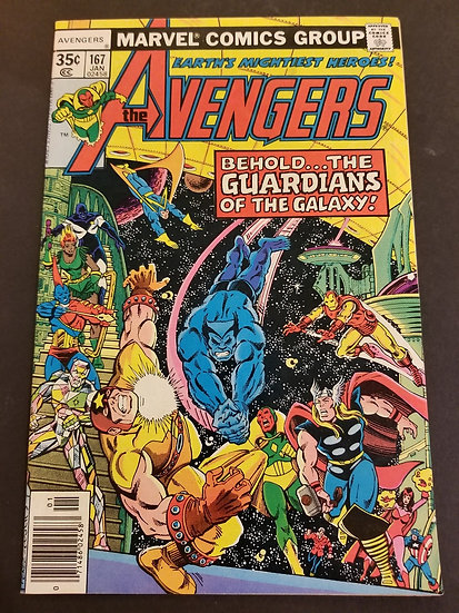 Avengers (1963 1st Series) #167 VF+ [1st Guardians of the Galaxy crossover.]