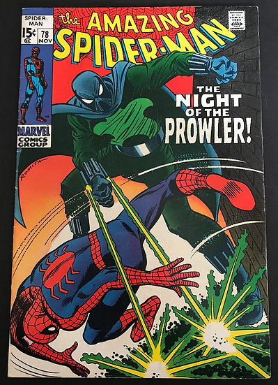 Amazing Spider-Man (Marvel) #78 VF [1st appearance of Prowler.]