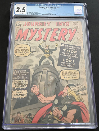 Journey Into Mystery #85 CGC 2.5 Of White Pages