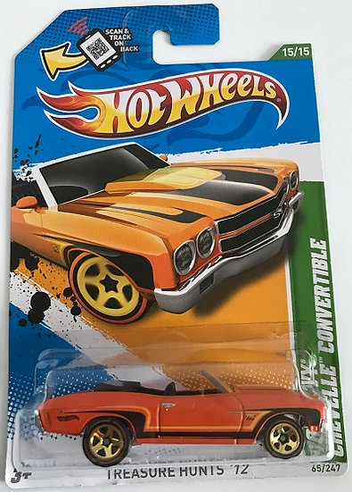 Hot Wheels Treasure Hunts 12 '70 Chevy Chevelle Convertible - 65/247 New Sealed