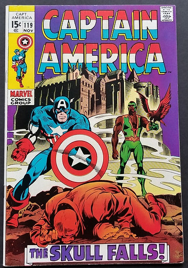 Captain America (1968 1st Series) #119 NM- [3rd appearance Falcon.]