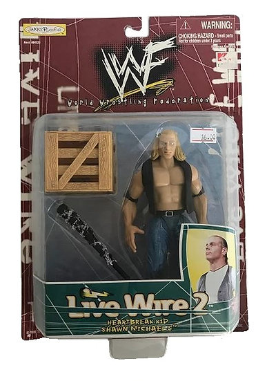 1998 WWF Live Wire 2 Heartbreak Kid Shawn Michaels Figure