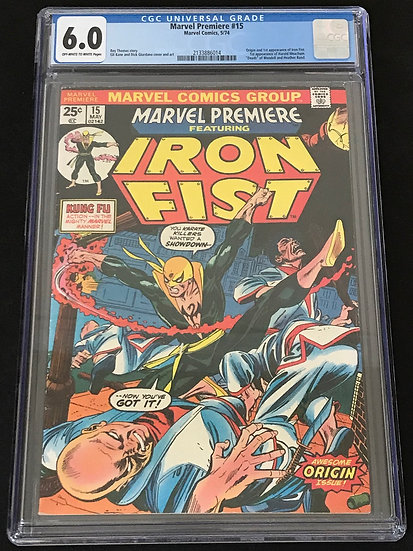 Marvel Premiere (Marvel) #15 CGC 6.0 Off-White To White Pages