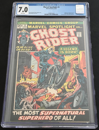 Marvel Spotlight 5 CGC 7.0 White Pages