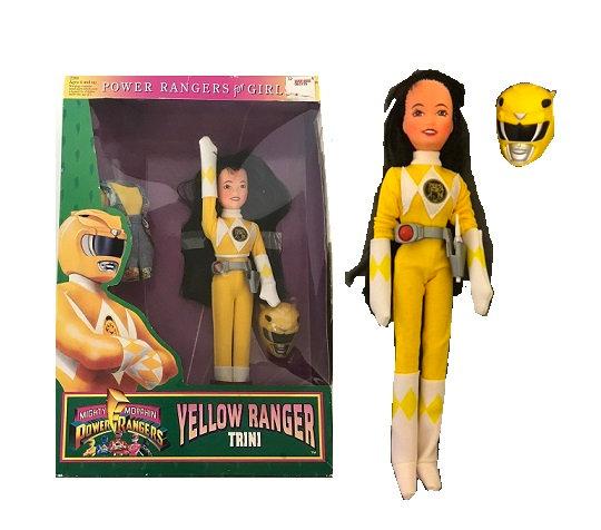 1994 Bandai Mighty Morphin Power Rangers for Girls 9 inch Yellow Trini Doll