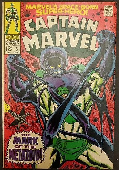 Captain Marvel (1968 1st Series Marvel) #5 VF/NM.