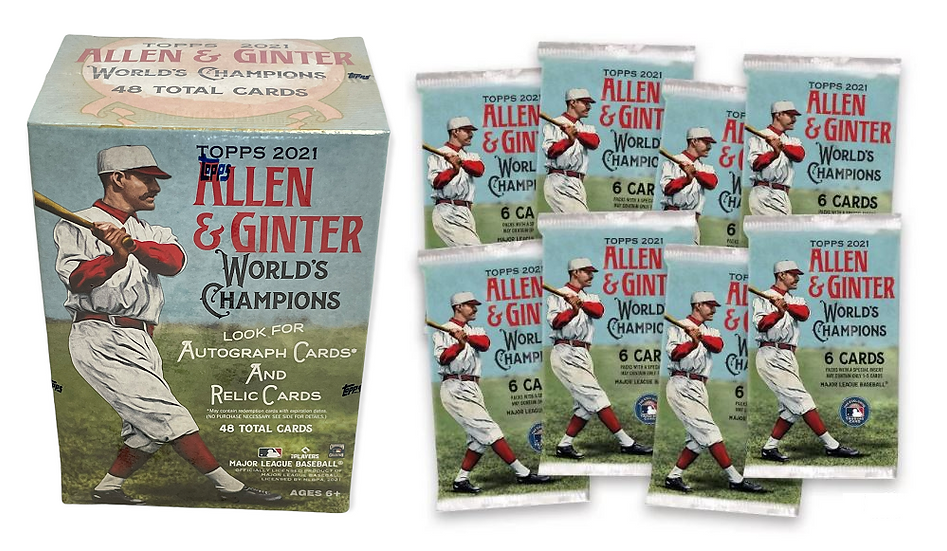 2021 Topps Allen & Ginter World's Champions MLB Trading Card Blaster Box