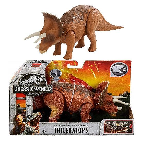 Jurassic World Roarivores Triceratops Dinosaur Figure
