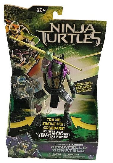 Teenage Mutant Ninja Turtle Movie Deluxe Combat Warrior Donatello Figure