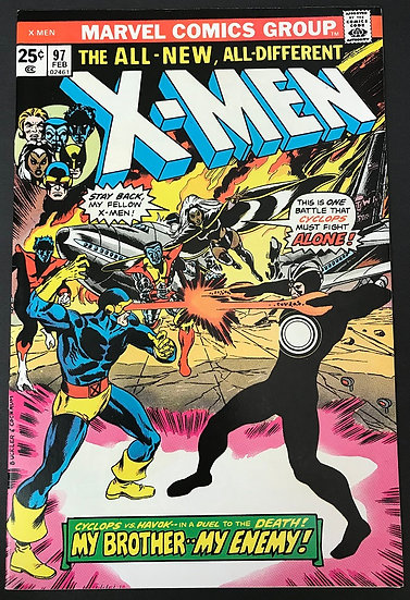 X-Men (1963 1st Series) #97 VF- [1st appearance Lilandra. Cyclops vs. Havok.]