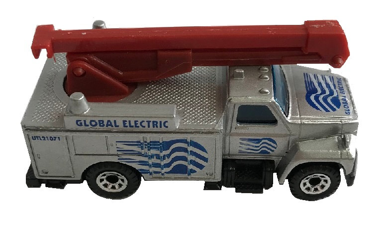 1989 Matchbox 1:64 Scale Global Electric Utility Truck