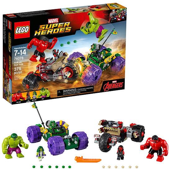 Lego Marvel Super Heroes Hulk Vs Red Hulk 76078