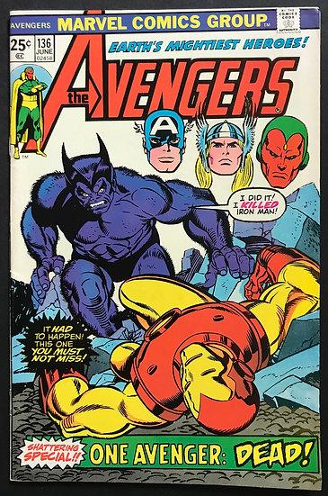 Avengers (Marvel ) #136 NM- [Beast Appearance.]