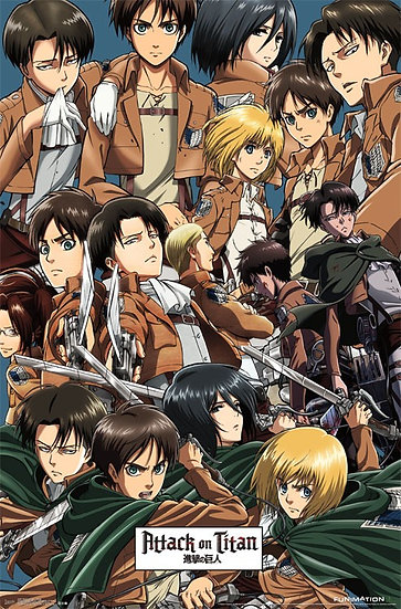 Attack on Titan Collage Wall Poster