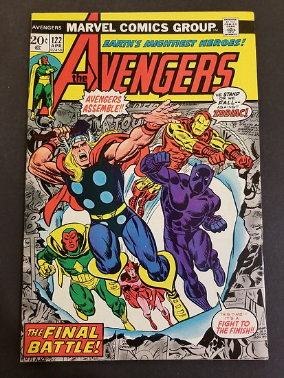 Avengers (Marvel ) #122 VF+ [Black Panther appearance.]