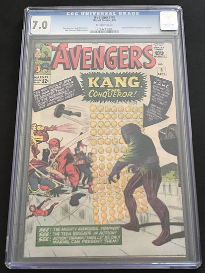 Avengers 8 CGC 7.0 Off White Pages