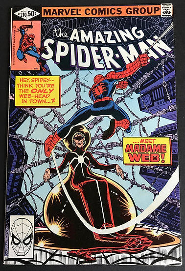 Amazing Spider-Man (Marvel) #210 NM- [1st Appearance Madame Web.]