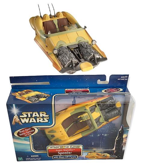 2002 Star Wars Episode Attack of the Clones Anakin Skywalker Coruscant Speeder