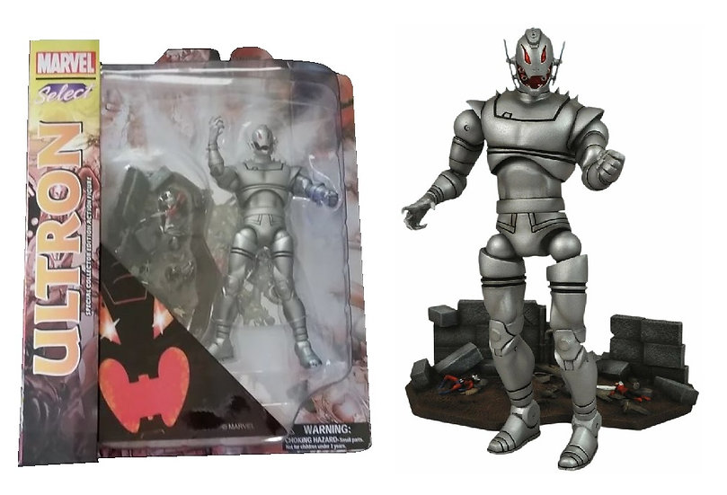 Diamond Select Toys Marvel Select Ultron Figure is new and sealed in the box.
