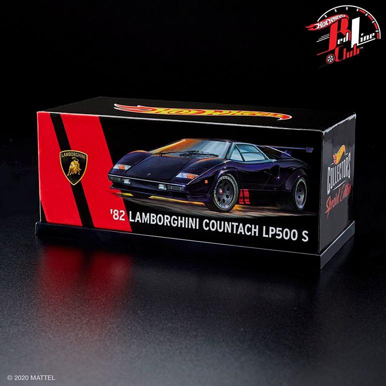 2020 Hot Wheels RLC CONFIRMED 82 Lamborghini Countach LP500 S in Black