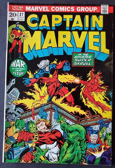 Captain Marvel 27 FN/VF [3rd Thanos]