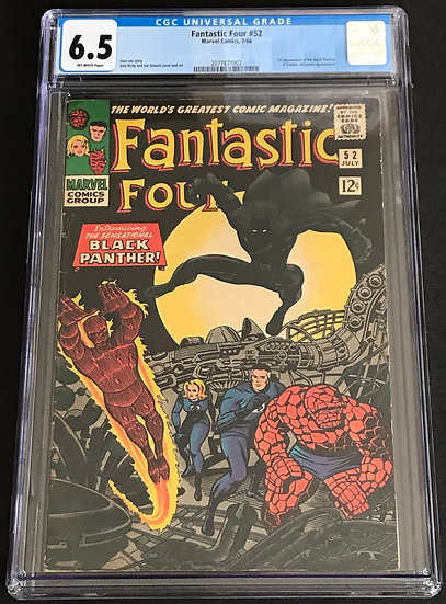 Fantastic Four 52 CGC 6.5 Off White Pages