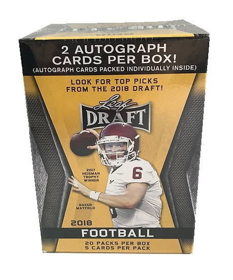 Leaf Draft 2018 Football Trading Card Blaster Box