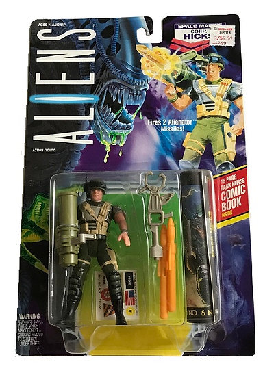 1992 Aliens Space Marine Corp. Hicks Action Figure By Kenner