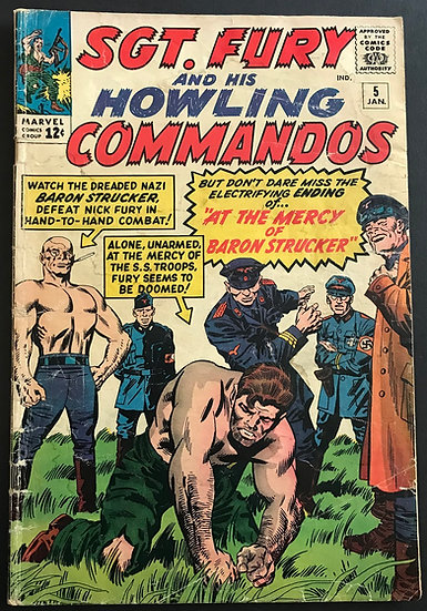 Sgt. Fury (1963) #5 VG- [1st Baron Strucker]