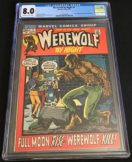 Werewolf By Night #1 CGC 8.0 Off-White To White Pages
