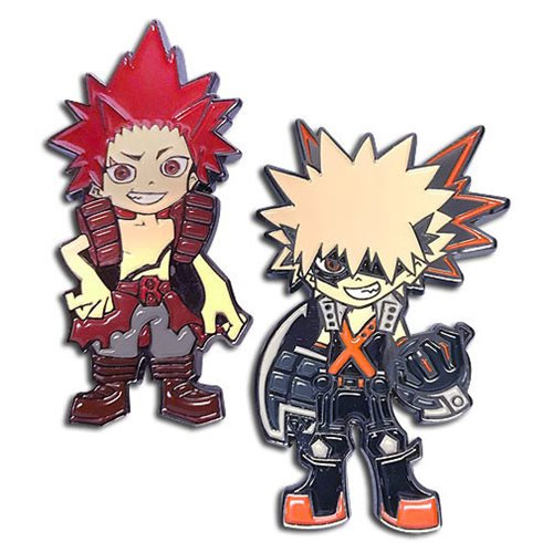 My Hero Academia Kacchan and Red Riot Pins 2-Pack