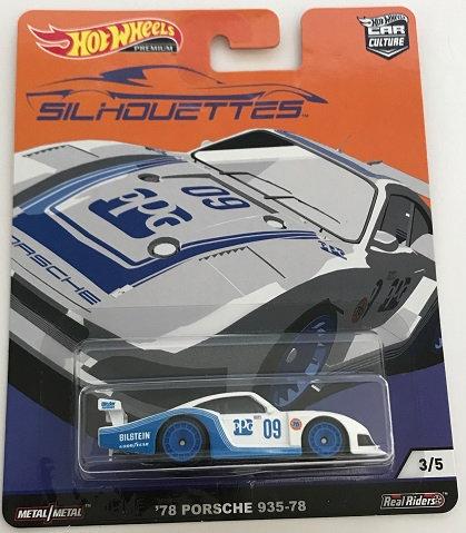 2019 Hot Wheels 1:64 Car Culture Silhouettes Series '78 Porsche 935-78