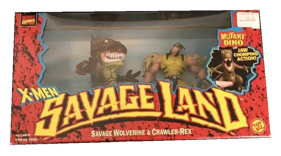 Marvel Comics X-Men Savage Land Savage Wolverine & Crawler-rex