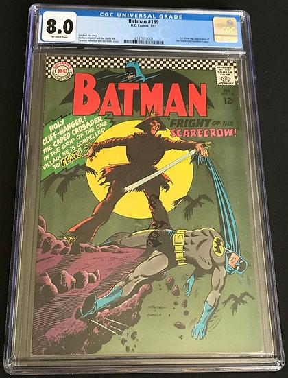 Batman  #189 CGC 8.0 Off-White Pages