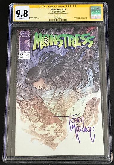 Monstress 10 Variant Cover CGC SS McFarlane 9.8 White Pages