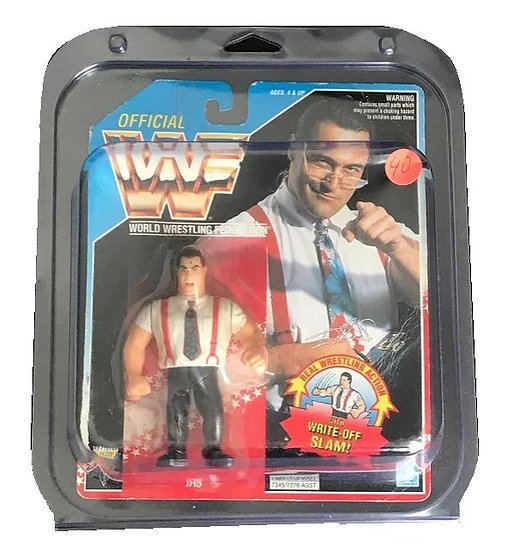 1992 Hasbro WWF Irs A.K.A Irwin R. Schyster  MOC