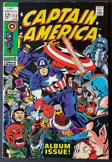 Captain America 112 VF+. Career of Captain America Retold. Iron Man appearance