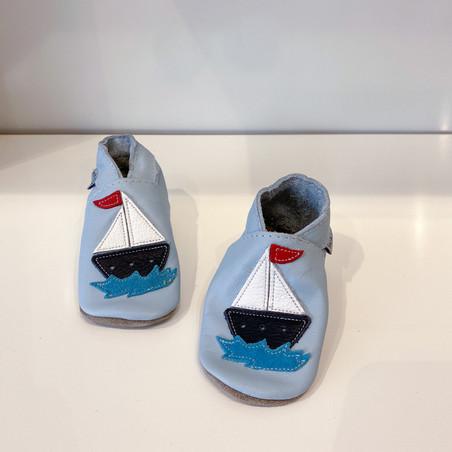 Inch Blue Krabbelschuh Segelboot