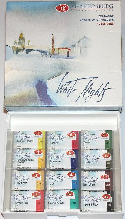 White Nights akvarelliväri 12 nap.