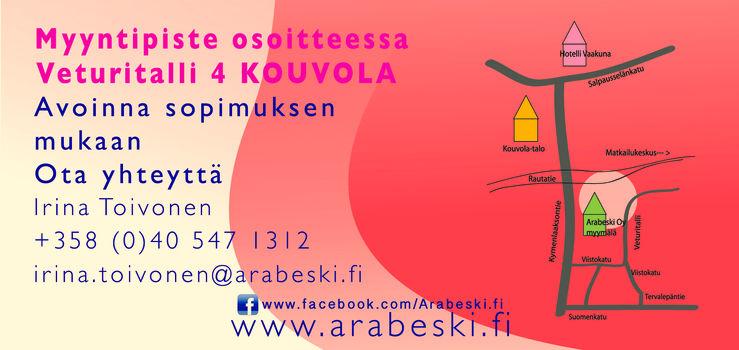 Arabeski Oy myntipiste, tanssi ja taidetarvikkeet