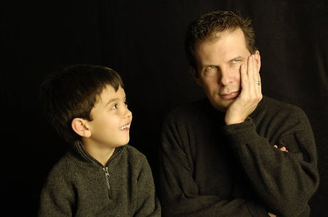_Father  Knows Less_ dad-son portrait by