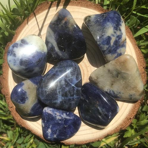 Sodalite Tumblestone ( brazil) medium