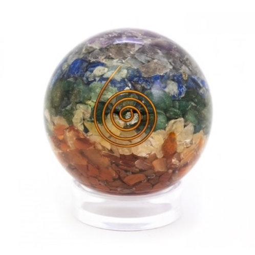 Chakra Orgone Sphere-With Reiki Symbol