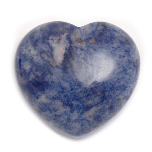Sodalite Crystal Heart
