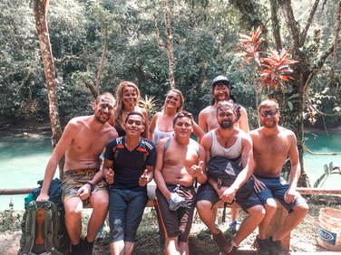 Fun in Semuc Champey, Guatemala