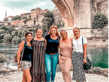 Girls on tour in Bosnia and Herzegovina